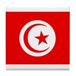 Tunisia Flag Tile Coaster