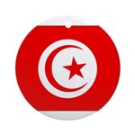 Tunisia Flag Ornament (Round)