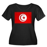 Tunisia Flag Women's Plus Size Scoop Neck Dark T-S