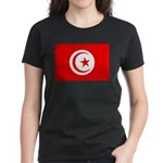 Tunisia Flag Women's Dark T-Shirt