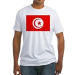 Tunisia Flag Fitted T-Shirt