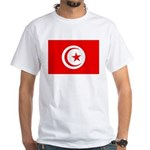 Tunisia Flag White T-Shirt