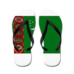 Turkmenistan Flag Flip Flops