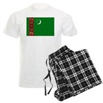 Turkmenistan Flag Men's Light Pajamas