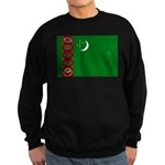 Turkmenistan Flag Sweatshirt (dark)