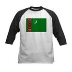 Turkmenistan Flag Kids Baseball Jersey
