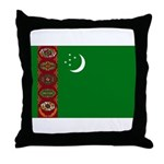 Turkmenistan Flag Throw Pillow