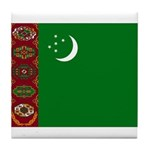 Turkmenistan Flag Tile Coaster