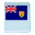 Turks and Caicos Flag baby blanket