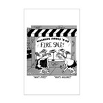 What's Fire? What's Walking Mini Poster Print