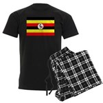 Uganda Flag Men's Dark Pajamas