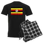 Uganda Flag Men's Dark Pajamas