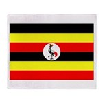 Uganda Flag Throw Blanket