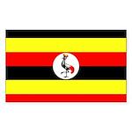Uganda Flag Sticker (Rectangle 50 pk)