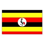 Uganda Flag Sticker (Rectangle 10 pk)
