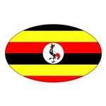Uganda Flag Sticker (Oval 10 pk)