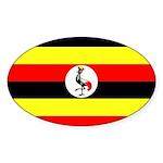 Uganda Flag Sticker (Oval 10 pk)