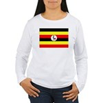 Uganda Flag Women's Long Sleeve T-Shirt