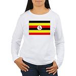 Uganda Flag Women's Long Sleeve T-Shirt
