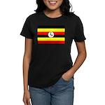 Uganda Flag Women's Dark T-Shirt