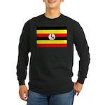 Uganda Flag Long Sleeve Dark T-Shirt