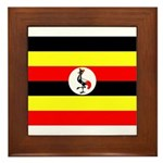 Uganda Flag Framed Tile