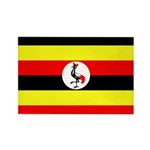 Uganda Flag Rectangle Magnet (100 pack)