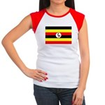 Uganda Flag Women's Cap Sleeve T-Shirt