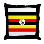 Uganda Flag Throw Pillow
