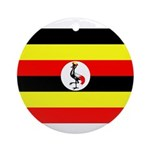 Uganda Flag Ornament (Round)