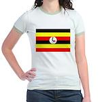 Uganda Flag Jr. Ringer T-Shirt