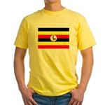 Uganda Flag Yellow T-Shirt