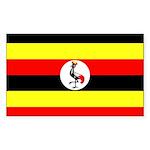 Uganda Flag Sticker (Rectangle)