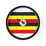 Uganda Flag Wall Clock
