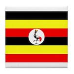 Uganda Flag Tile Coaster