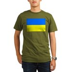 Ukraine Flag Organic Men's T-Shirt (dark)