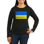 Ukraine Flag Women's Long Sleeve Dark T-Shirt