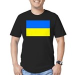 Ukraine Flag Men's Fitted T-Shirt (dark)