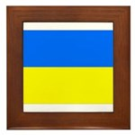Ukraine Flag Framed Tile