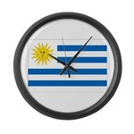 Uruguay Flag Large Wall Clock