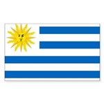 Uruguay Flag Sticker (Rectangle 50 pk)