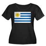 Uruguay Flag Women's Plus Size Scoop Neck Dark T-S