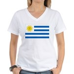 Uruguay Flag Women's V-Neck T-Shirt