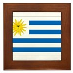 Uruguay Flag Framed Tile