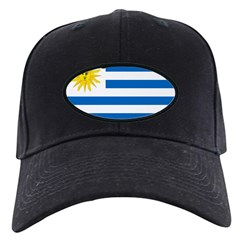 Uruguay Flag Black Cap