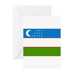 Uzbekistan Flag Greeting Card