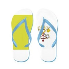 Vatican City Flag Flip Flops