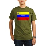 Venezuela Flag Organic Men's T-Shirt (dark)