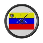 Venezuela Flag Large Wall Clock