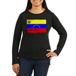 Venezuela Flag Women's Long Sleeve Dark T-Shirt